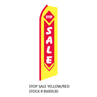 Swooper Flags Stop Sale Yellow/Red