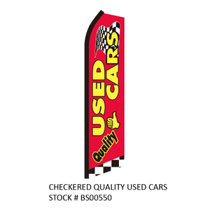 Swooper Flags CHECKERED QUALITY USED CARS
